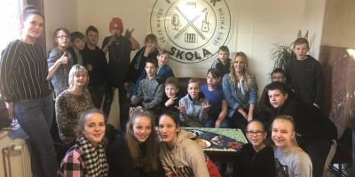 Skolēni viesojas Liepājas Pop-rok skolā